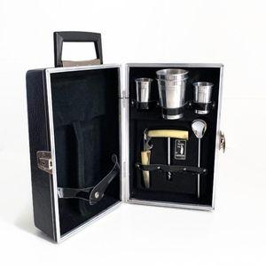 Vintage Bar Case Travel Portable Pub Barware Party